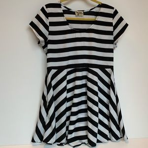 Show me your MuMu striped skater mini dress